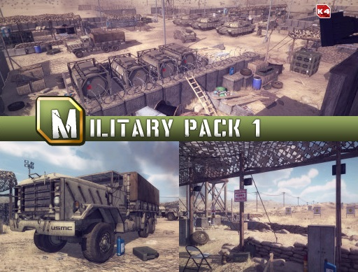 مدل های سه بعدی Unity - Military Pack 1 Micheal K4