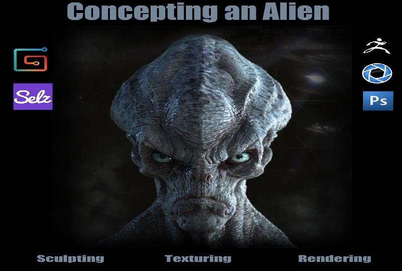 آموزش Gumroad - Concepting an Alien in Zbrush and Keyshot by