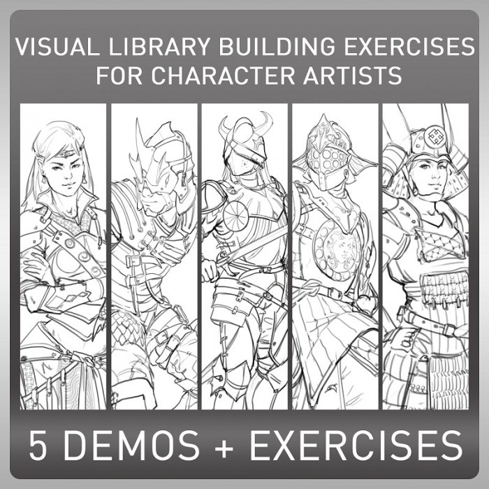 آموزش Gumroad - Visual Library Building Exercises for Character Artists by Alex Negrea
