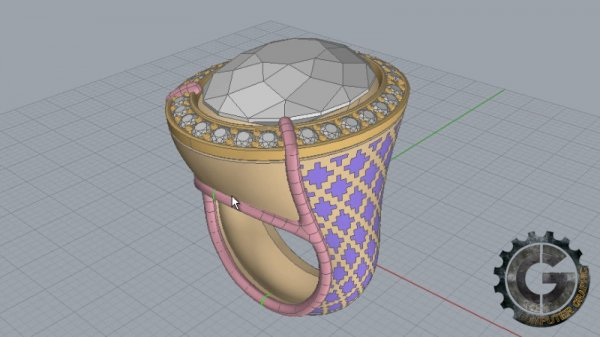 آموزش Digital Tutors - Modeling a Cocktail Ring in Rhino