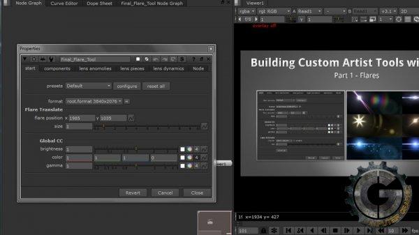 آموزش Digital Tutors - Building a Custom Flare Tool in NUKE