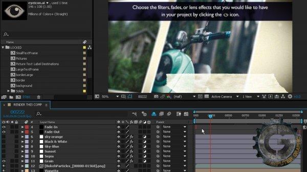 آموزش Digital Tutors - Creating Publishable Templates in After Effects