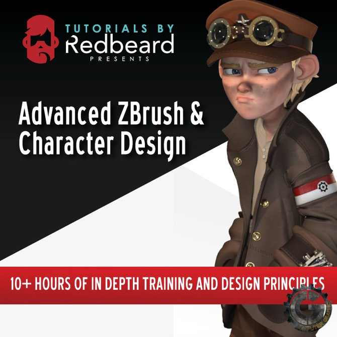 دانلود رایگان آموزش Gumroad - Advanced ZBrush and Character Design by Matt Thorup