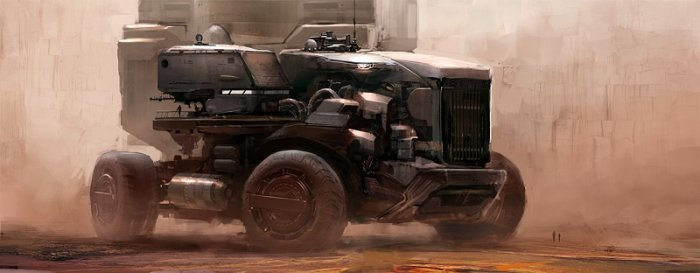 آموزش Gumroad - Scifi Vehicle Illustration by Jan Urschel