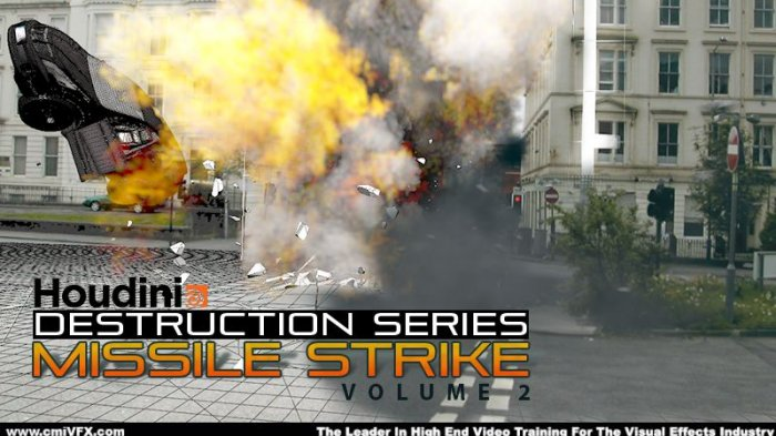 آموزش cmiVFX - Houdini Destruction Series - Missile Strike Volume 2