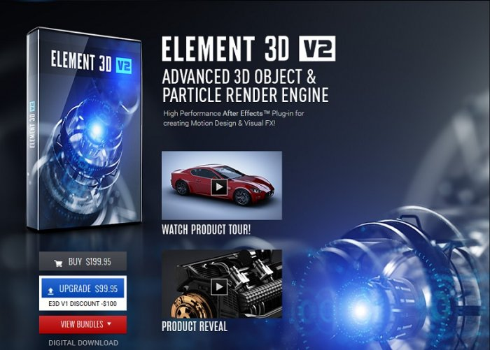 دانلود پلاگین Video Copilot Element 3D + Content