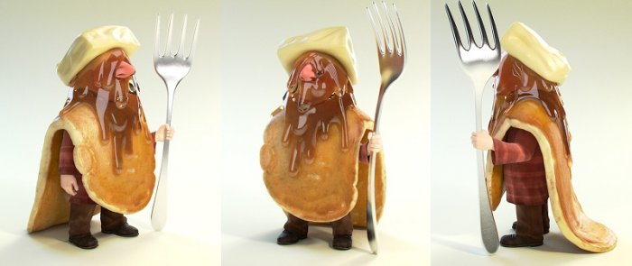 آموزش اصول سایه زنی کاراکتر در بلندر CGCookie - Fundamentals of Shading in Cycles - Shading the Pancake Hobo