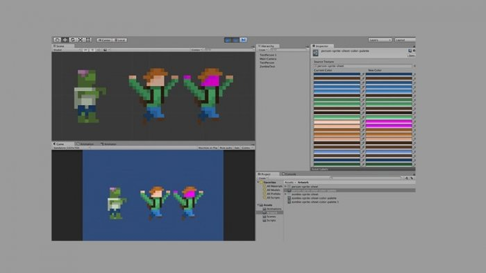 آموزش Lynda - Advanced Unity 2D - Sprite Palette Swapping