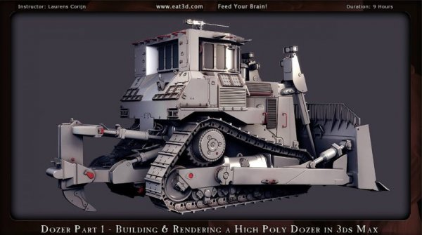 آموزش Eat 3D - The Dozer - Part 1 - Building & Rendering a High Poly Dozer in 3ds Max