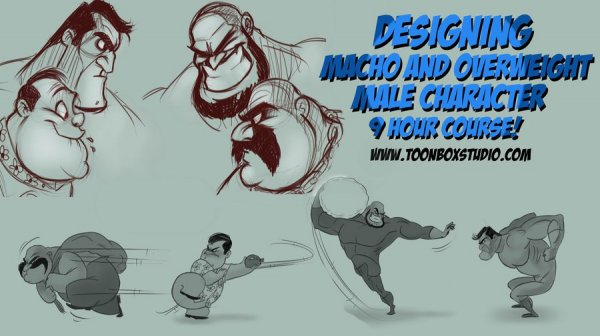 آموزش Toonboxstudio - Designing Macho and Overweight Male Characters