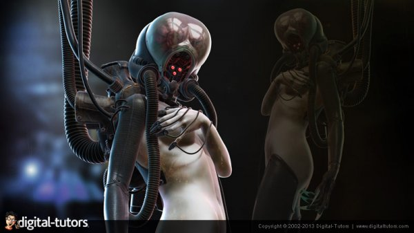 آموزش Digital Tutors - Concepting a Cyborg in ZBrush