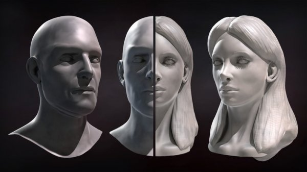 آموزش Digital Tutors - Sculpting Male and Female Faces in ZBrush