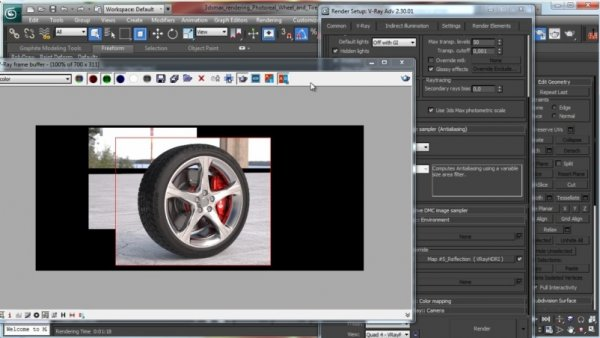 آموزش CG Cookie - Photoreal Wheel and Tire with VRay