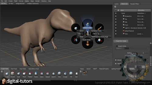 آموزش Digital Tutors - Artist Guide to Mudbox 2012