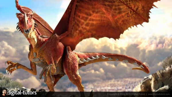 آموزش Digital Tutors - Creating a Fantasy Dragon in ZBrush and Photoshop CS6