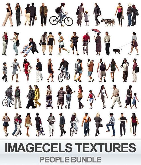 بافت های آماده Imagecels - People Textures Bundle