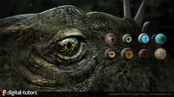 آموزش Digital Tutors - Texturing Animal Eyes in Maya