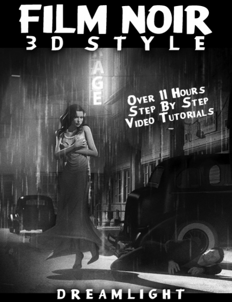 آموزش ساخت فیلم به سبک دهه 1940 Daz3d - Film Noir 3D Style - Back To Black And White