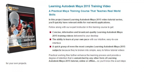 آموزش جامع نرم افزار مایا 2015 InfiniteSkills - Learning Autodesk Maya 2015 Training