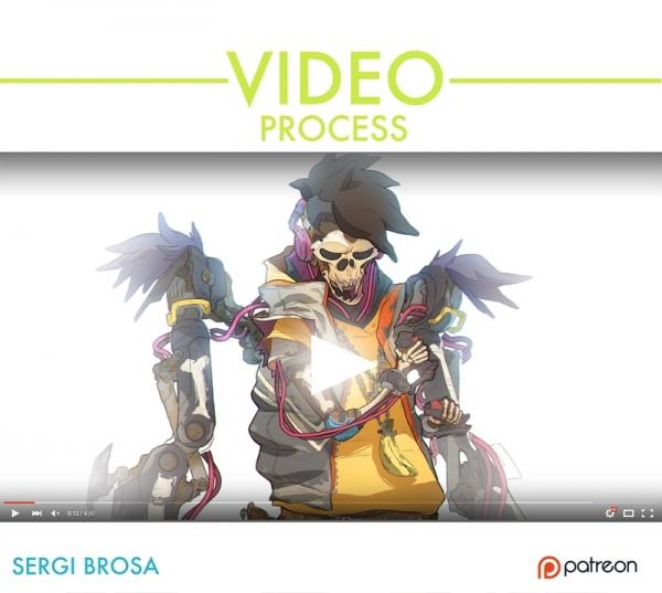آموزش طراحی کاراکتر بیت ایگور در فتوشاپ Gumroad - Fury Beats Igor video process by Sergi Brosa