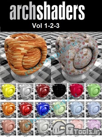 دانلود مجموعه Evermotion Archshaders Vol 1 - 2 - 3