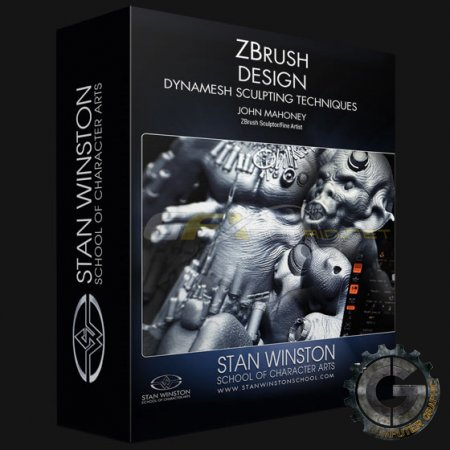 آموزش Stan Winston School - ZBrush Character Design - Dynamesh Sculpting Techniques