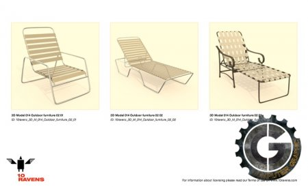 مدلهای سه بعدی 10ravens - 3D Models Collection 014 Outdoor Furniture 02