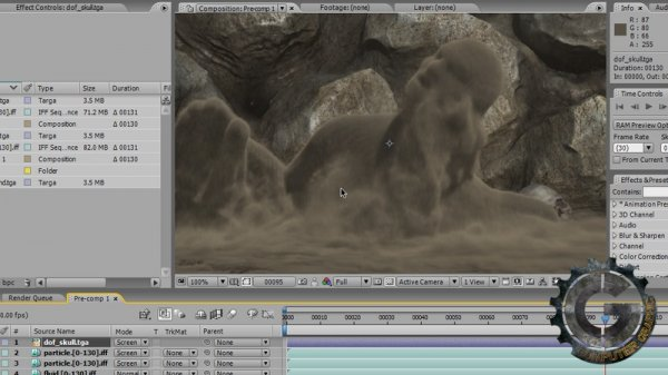 آموزش Digital Tutors - Simulating Sandman Effects in Maya