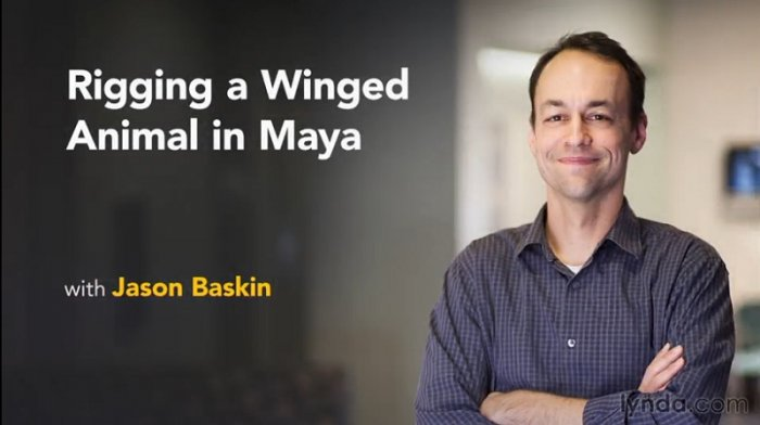 آموزش Lynda - Rigging a Winged Animal in Maya with Jason Baskin