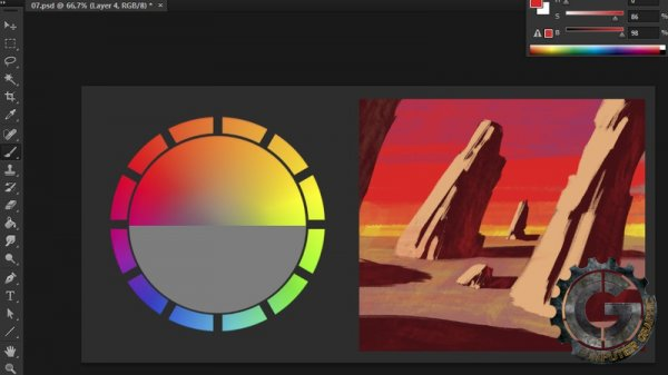 آموزش Digital Tutors - Understanding Color Theory in Concept Art and Illustration