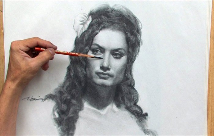 آموزش Gnomon Workshop - Drawing the Female Portrait - Construction and Abstraction Methods