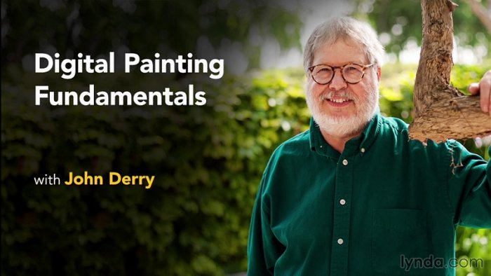 آموزش Lynda - Digital Painting Fundamentals with John Derry