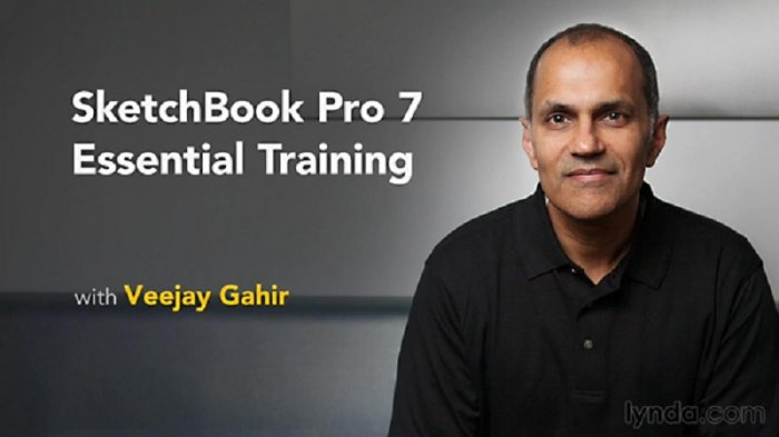 آموزش Lynda - SketchBook Pro 7 Essential Training