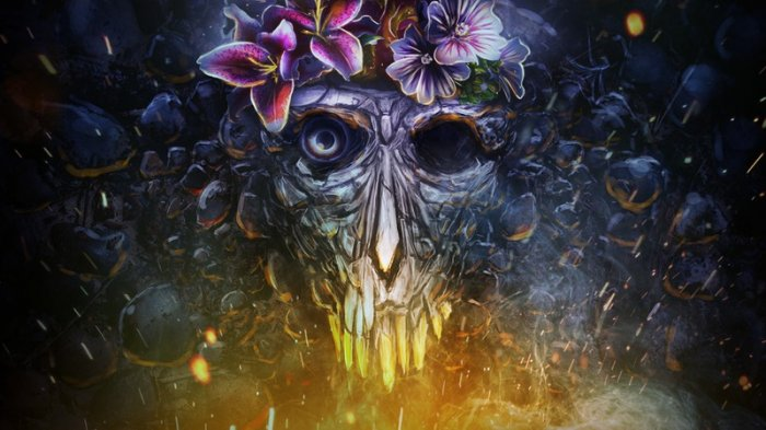 آموزش Digital Tutors - Designing a Surreal Skull in Photoshop