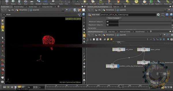 آموزش cmiVFX - Houdini Particle Morphing Effects