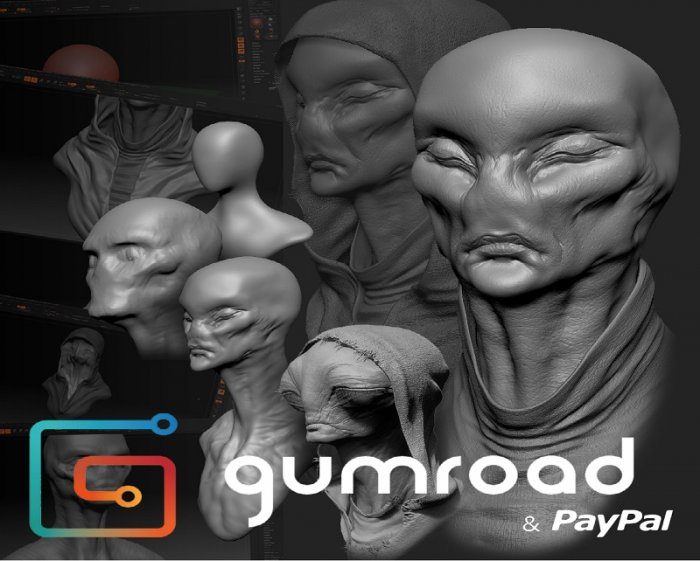 آموزش Gumroad - Intro To Sculpting by Kurt Papstein