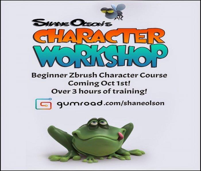 آموزش Gumroad - Beginner Zbrush Training - Creating a Simple Cartoon Character By Shane Olson