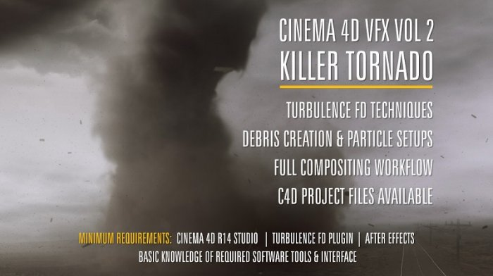 آموزش Helloluxx - VFX Cinema 4D Training - Volume 2 Killer Tornado