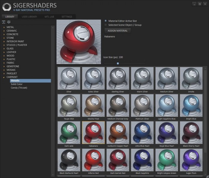 دانلود رایگان SIGERSHADERS V-Ray Material Presets Version Pro