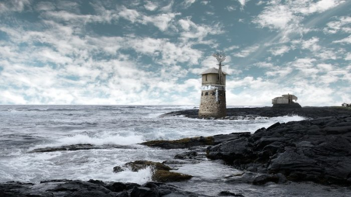 آموزش Digital Tutors - Compositing a Desolate Ocean Landscape in Photoshop and NUKE