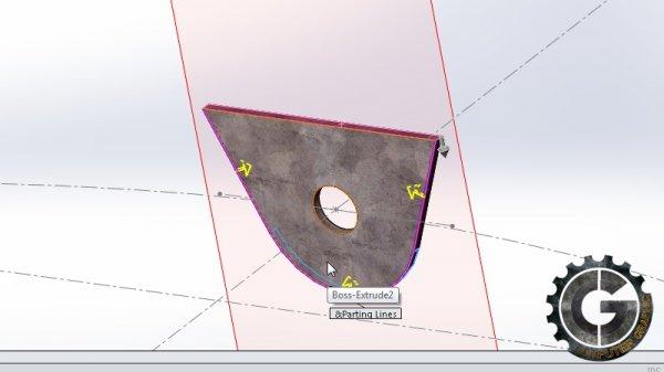 آموزش نحوه ایجاد یک براکت در سالید ورک Digital Tutors - Creating a Wheel Blade Bracket in SolidWorks