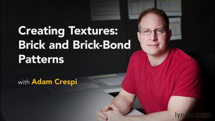 آموزش Lynda - Creating Textures - Brick and Brick-Bond Patterns
