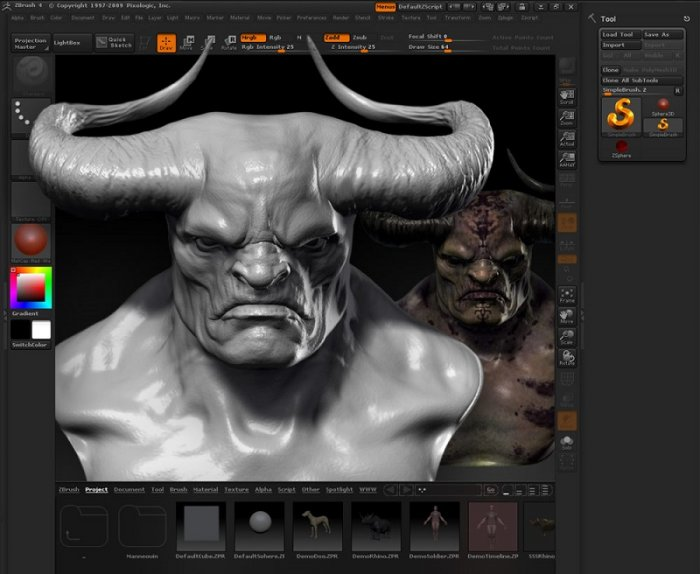 آموزش The Gnomon Workshop - Introduction to ZBrush 4 With Scott Spencer