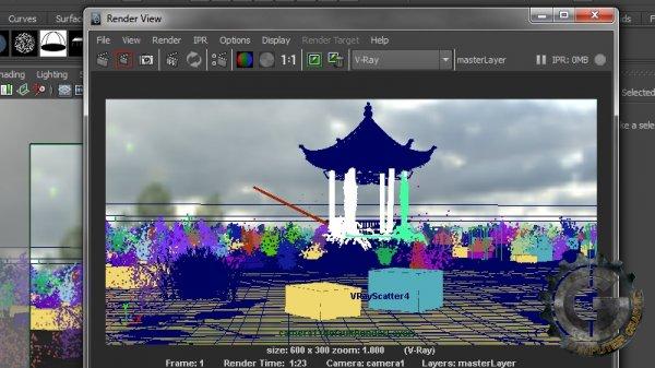 آموزش Digital Tutors - Creating a Swampy Landscape Using V-Ray Scatter in Maya