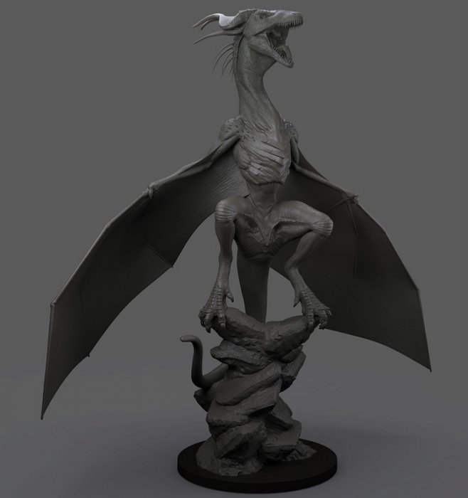 آموزش The Gnomon Workshop - Sculpting a Dragon with ZBrush